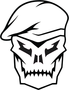CALL OF DUTY BLACK OPS SKULL Logo Vector
