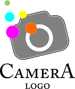 Camera Colour Fashion Logo Vector