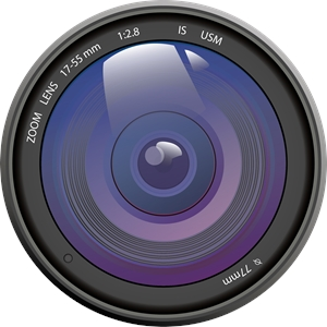 Camera lean Logo Vector