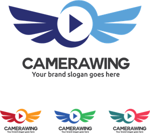 camera wing Logo Vector