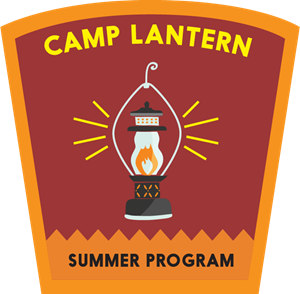 camp lantern summer program Logo Vector