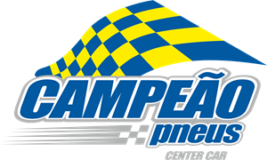 Campeão Pneus Center Car Logo Vector