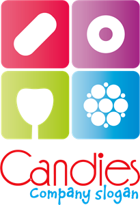 Candies Company Shape Logo Vector