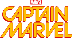 Captain Marvel Comic Book Logo Vector