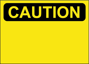 CAUTION SIGN Logo Vector