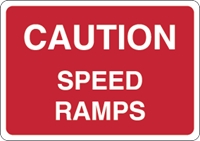 Caution speed ramps Logo Vector