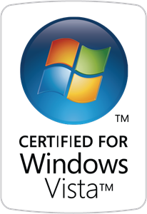 Certified for Windows Vista Logo Vector