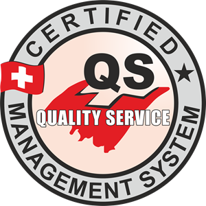 CERTIFIED MANAGMENT SYSTEM QS ISO 9001 Logo Vector