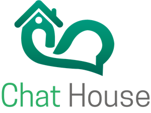 Chat House Logo Vector