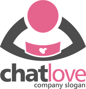 Chat Love Logo Vector