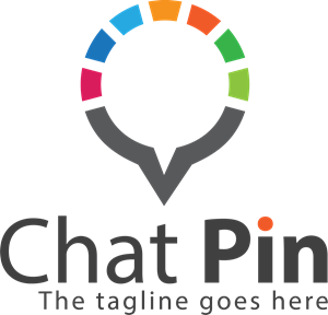 Chat pin Logo Vector