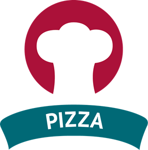 Chef Hat Pizza Logo Vector