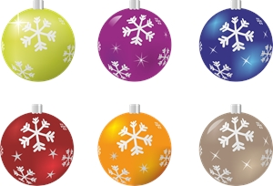 christmas ball Logo Vector
