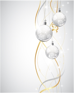 christmas balls background Logo Vector