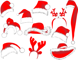 christmas hats Logo Vector