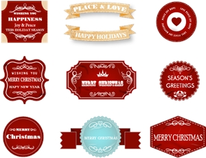 christmas labels Logo Vector
