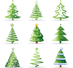christmas tree Logo Vector