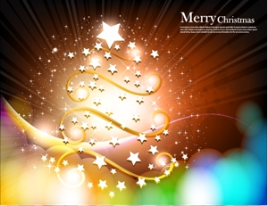 christmas tree star fantasy background Logo Vector