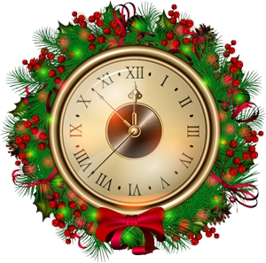 christmas watch Logo Vector