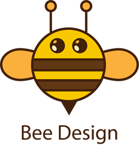 Circle bee Logo Vector
