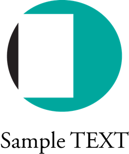 Circle inside rectangle company Logo Vector