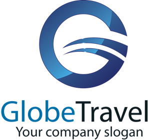Circular Travel Agency Logo Vector