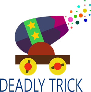 Circus Deadly Trick Logo Vector
