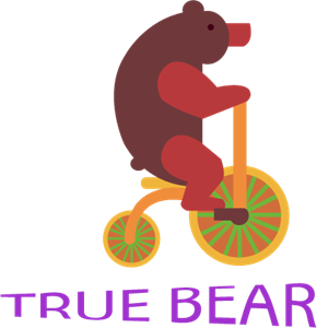 Circus True Bear Logo Vector