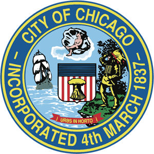 City of Chicago Incorporated 4th March 1837 Logo Vector