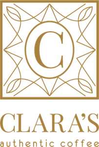 Clara's Cafe Logo Vector