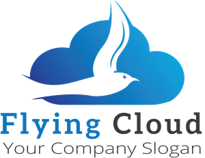 cloud and a bird Logo Vector