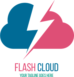 cloud and lightning Logo Vector