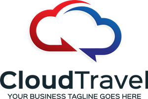 Cloud Travel Logo Vector