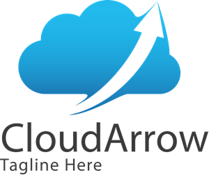 Cloud with arrow Logo Vector