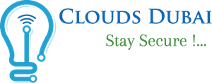 Clouds Dubai - Stay Secure !! Logo Vector