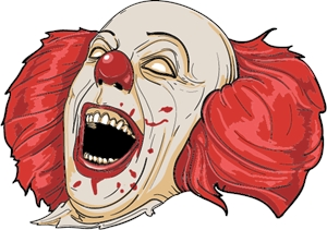 Clown evil Logo Vector