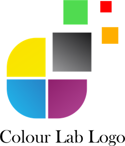 CMYK Colour Lab Art Logo Vector
