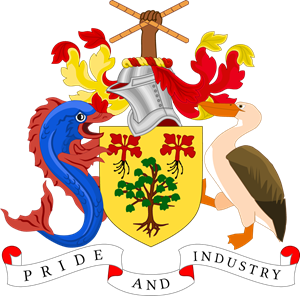 Coat of arms of Barbados Logo Vector