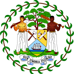 Coat of arms of Belize Logo Vector