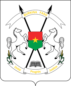 Coat of arms of Burkina Faso Logo Vector