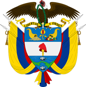 Coat of arms of Colombia Logo Vector
