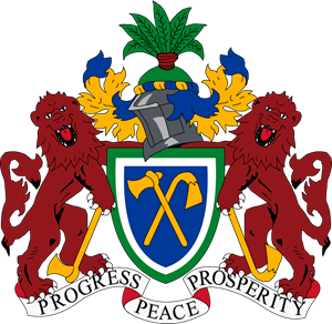 Coat of arms of Gambia Logo Vector