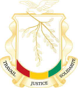Coat of arms of Guinea Logo Vector