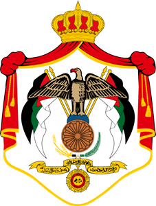 Coat of arms of Jordan Logo Vector