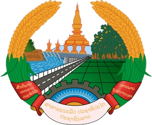 COAT OF ARMS OF LAOS Logo Vector