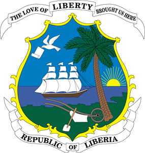 Coat of arms of Liberia Logo Vector