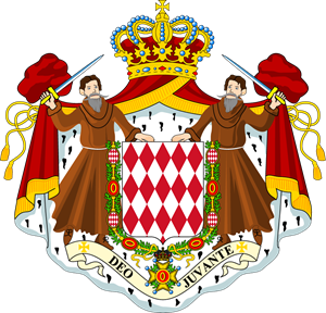Coat of arms of Monaco Logo Vector