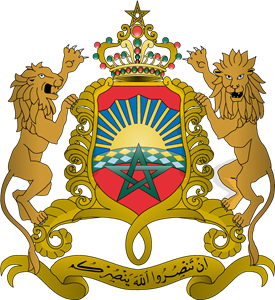 Coat of arms of Morocco Logo Vector