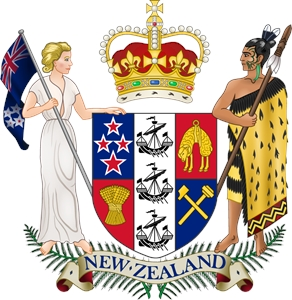 Coat of arms of New Zealand Logo Vector