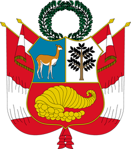 Coat of arms of Peru Logo Vector